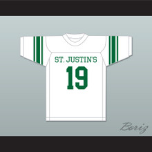 Johnny Unitas 19 St. Justin's High School Pittsburgh White Football Jersey