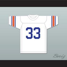 Jim Brown 33 Manhasset High School Indians White Football Jersey 1