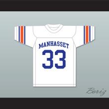 Jim Brown 33 Manhasset High School Indians White Football Jersey 2