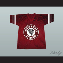 Jackson Whittemore 37 Beacon Hills Cyclones Lacrosse Jersey Maroon