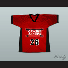 Crooked Arrows Tyler Hill Silverfoot Lacrosse Jersey Red