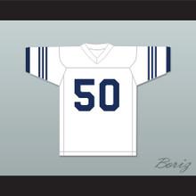 Dick Butkus 50 Illinois Fighting Illini White Football Jersey