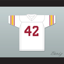 Ronnie Lott 42 USC Trojans White Football Jersey