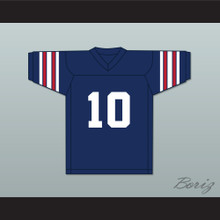 Brett Favre 10 Hancock North Central High School Hawks Navy Blue Football Jersey 1