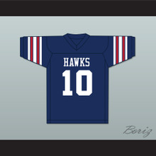 Brett Favre 10 Hancock North Central High School Hawks Navy Blue Football Jersey 2