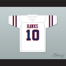 Brett Favre 10 Hancock North Central High School Hawks White Football Jersey 2