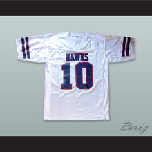 Brett Favre 10 Hancock North Central High School Hawks White Football Jersey 4