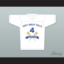 Steve Stifler 4 East Great Falls Lacrosse Jersey White New