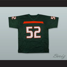 Ray Lewis 52 Miami Hurricanes Green Football Jersey