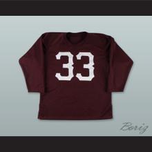 Sammy Baugh 33 Washington Burgundy Long Sleeve Football Jersey