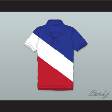 Cal Naughton Jr Red White and Blue Polo Shirt