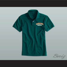 Ricky Bobby Hugalo's Pizza Logo 1 Dark Green Polo Shirt