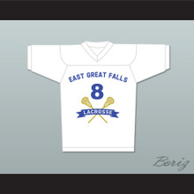"Chris ""Oz"" Ostreicher 8 East Great Falls Lacrosse Jersey White"