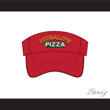 Hugalo's Pizza Logo 2 Red Baseball Visor Hat