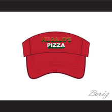 Hugalo's Pizza Logo 3 Red Baseball Visor Hat