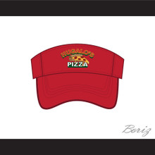 Hugalo's Pizza Logo 4 Red Baseball Visor Hat
