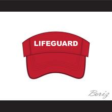 Lifeguard Red Baseball Visor Hat