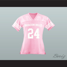 Stiles Stilinski 24 Beacon Hills Cyclones Lacrosse Jersey Teen Wolf Pink