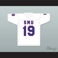 Eric Dickerson 19 SMU Mustangs White Football Jersey