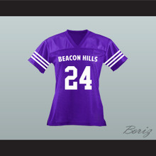 Stiles Stilinski 24 Beacon Hills Cyclones Lacrosse Jersey Teen Wolf Purple
