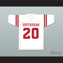 Ed Reed 20 Destrehan High School Fighting Wildcats White Football Jersey 1