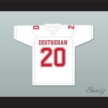 Ed Reed 20 Destrehan High School Fighting Wildcats White Football Jersey 2