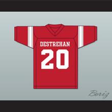 Ed Reed 20 Destrehan High School Fighting Wildcats Red Football Jersey 1