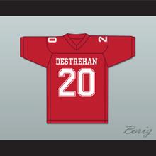 Ed Reed 20 Destrehan High School Fighting Wildcats Red Football Jersey 2