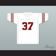 Jim Parker 37 Scott High School Bulldogs White Football Jersey 1