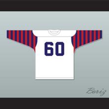 Chuck Bednarik 60 Penn Quakers White Long Sleeve Football Jersey
