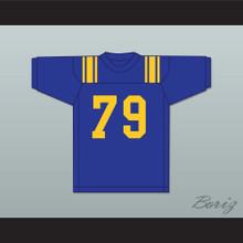 Forrest Gregg 79 Sulphur Springs High School Wildcats Blue Football Jersey 1