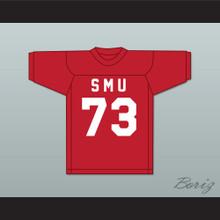 Forrest Gregg 73 SMU Mustangs Red Football Jersey 2