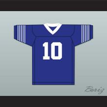 Player 10 Pop Warner Blue Football Jersey