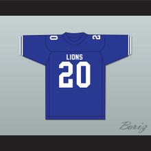 Earl Campbell 20 John Tyler High School Lions Blue Football Jersey 2