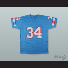 Earl Campbell 34 Houston Oilers Light Blue Football Jersey