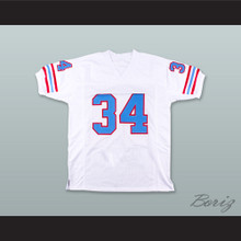 Earl Campbell 34 Houston Oilers White Football Jersey