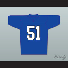 Al Bundy 51 Blue Football Jersey TV Interview Married With Children Ed O' Neill