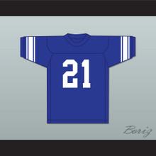Bart Starr 21 Sidney Lanier High School Poets Blue Football Jersey 1
