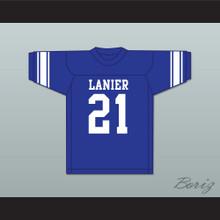 Bart Starr 21 Sidney Lanier High School Poets Blue Football Jersey 2