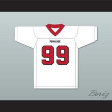 JJ Watt 99 Pewaukee High School Pirates White Football Jersey