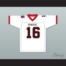 TJ Watt 16 Pewaukee High School Pirates White Football Jersey