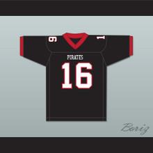 TJ Watt 16 Pewaukee High School Pirates Black Football Jersey