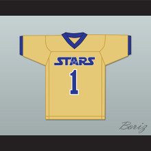 Larry Fitzgerald 1 Academy of Holy Angels Stars Gold Football Jersey