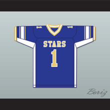 Larry Fitzgerald 1 Academy of Holy Angels Stars Blue Football Jersey