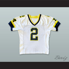 Charles Woodson 2 Michigan Wolverines White Football Jersey 1