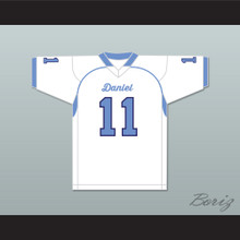 DeAndre Hopkins 11 D. W. Daniel High School Lions White Football Jersey 1