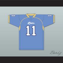 DeAndre Hopkins 11 D. W. Daniel High School Lions Light Blue Football Jersey 2