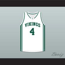 Davante Adams 4 Palo Alto High School Vikings White Basketball Jersey