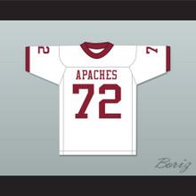 Bruce Matthews 72 Arcadia High School Apaches White Football Jersey 2