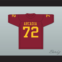 Bruce Matthews 72 Arcadia High School Apaches Maroon Football Jersey 2